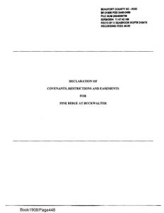 Declaration of Covenants, Restrictions and Easements