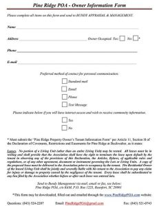 Owner Information Sheet