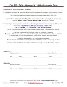 Commercial Vehicle Registration Form